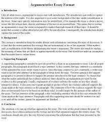 argumentative essay exles how to
