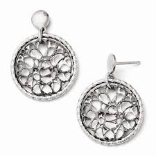 sand black ruthenium post stud drop dangle chandelier earrings