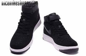 nike shoes 2016 high tops. 2016 latest air force 1 flyknit high tops shoes black white nike h