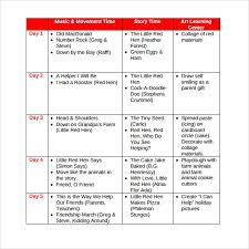 sample lesson plan for preschool weekly lesson plan for preschool template business