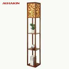 standing lamp with shelf style modern minimalist wooden floor bedroom bedside lamp flower shelf standing lamp standing lamp with shelf floor