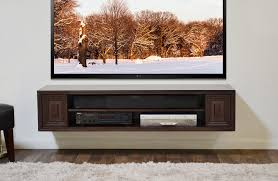 ... Shelving Under Wall Mounted Tv Dark Brown Stained Wooden Shelf With  Large Storage Large Size Of ...