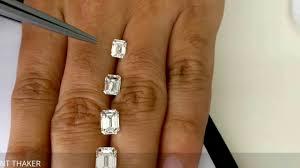 Emerald Cut Diamond Size Compare On Hand 1ct Untill 2ct
