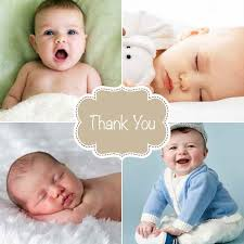 Baby Thankyou Framed Baby Thank You Cards Babycardfactory Com