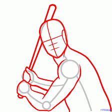 how to draw willie mays willie mays step 2