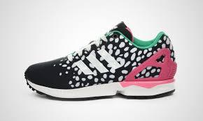 torsion zx flux. adidas zx flux torsion print sneakers for women core black/ftwr white/semi solar zx p