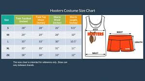 63 Surprising Hooters Uniform Size Chart