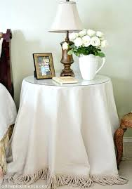 round bedside table cloths bedside table cloths round bedside table cloth drop cloth no sew round round bedside table cloths