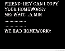 funny homework school moment quote