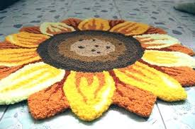 red sunflower kitchen rugs outstanding round rug flower shaped foot mat adorable shape blue wonderful bee sunflower kitchen rugs breathtaking