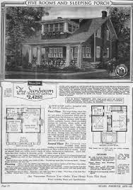 here for an image of the sunbeam catalog page with floor plans