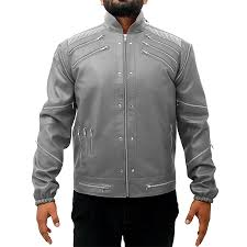 michael jackson beat it leather jacket gray