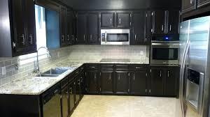 black kitchen cabinets distressed