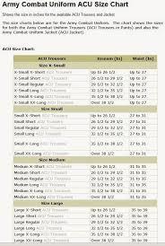 Acu Alternate Size Chart 31 Genuine Acu Alternate Size Chart