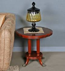 sherman solid wood round end table by gianis global