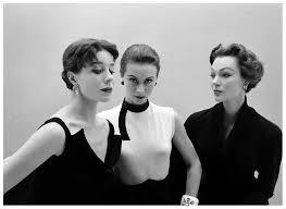 Bettina Graziani, Sophie Malgat and Ivy Nichols all wearing Givenchy, 1952  // photo by Nat Farbman | Vintage fashion photography, Bettina, Photo