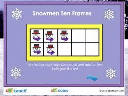 Promethean Flipchart Math Lesson Snowman Ten Frames