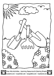 Click the print link at the top of the page and it will automatically print the page only and ignore the advertising and navigation at the top of the page, or. Kids Gardening Tools Coloring Pages Lucy Garden Coloring Pages Coloring Home