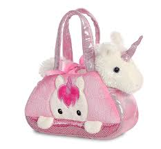 Snuggle Buddies Magical Light Up Star Amazon Com Fancy Pal Peek A Boo Unicorn In Carry Bag Plush
