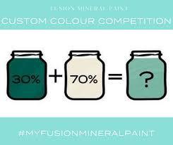 April Fusion Custom Colour Competition Fusion Mineral Paint