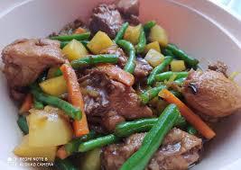 Sajikan bistik daging dengan pelengkapnya. 10 Resep Bistik Ayam Enak Gurih Manis Dan Sederhana Briliof