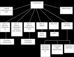 Отчет о производственной преддипломной практике по МУЗ Центральная  Организационная структура МУЗ Центральная городская больница показана на рисунке 1