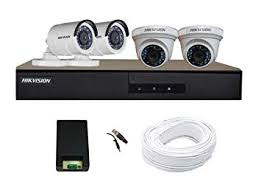 Buy Hikvision <b>Full HD</b> (<b>2MP</b>) 4 <b>CCTV</b> Camera & 4Ch.<b>Full HD DVR</b> ...