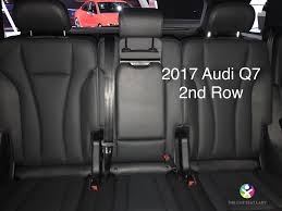 sadly the q7 didn t borrow from the atlas playbook and the q7 doesn t offer a car seat safe tilt for 3rd row access with a car seat installed on that 2nd