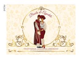 Traditional Wedding Invitation Nigerian Traditional Wedding Invitation Card Yoruba Engagement