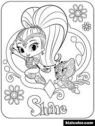 Shimmer And Shine Printable Coloring Pages Free Download Jokingart