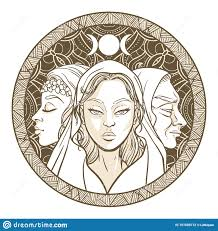 Wiccan Moon Chart Triple Goddess As Maiden Mother And Crone Beautiful Woman
