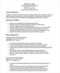 Product Marketing Engineer Sample Resume 1 Techtrontechnologies Com