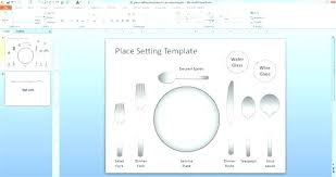 Table Setting Templates Place Setting Template Free