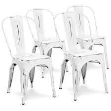 distressed metal furniture. Set Of 4 Industrial Metal Dining Chairs - Distressed White Furniture