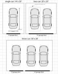 standard door width for what size is a standard garage door double