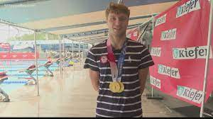 Bobby Finke is home after winning gold ...