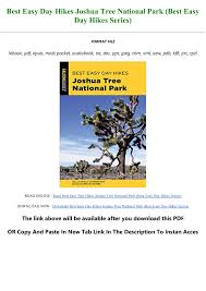 Download [PDF] Best Easy Day Hikes Joshua Tree National Park (Best Easy Day  Hikes Series) Full Pages Pages 1 - 3 - Text Version | AnyFlip