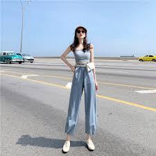 <b>Women's</b> Fashion 2 Piece Set <b>Women Tube</b> Top Crop Top and Long ...