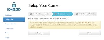 wave broadband technical support momorobo step 2 setup your carrier to use nomorobo please call