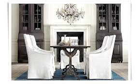 restoration hardware rococo chandelier factory zinc dining table slope slipcover dining chairs rococo crystal chandelier restoration