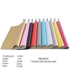 10pcs pack 22cm 30cm soft faux leather fabric sheet soft metallic foil fabric diy