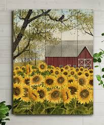 love this product 12 x 16 sunflower barn wood pallet wall art
