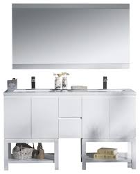 vanity emmet 60 with double sink integrated solid surface top metal gray