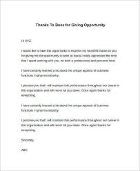24+ Sample Thank You Letter Templates To Boss – Pdf, Doc, Apple ...