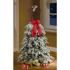 Holiday Time Artificial Christmas Trees 5' Flocked Dress Form Artificial  Tree, Clear Lights - Walmart.com