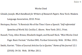 How To Format The Works Cited Page In Mla Style Jerzs
