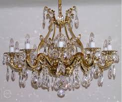 maria theresa crystal chandelier brass strass chandeliers vintage chandelier crystals