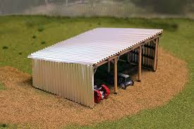 free scale model scratch building metal shed