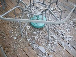 working creating patio: because i was working outdoors i had to cover the table so that rain