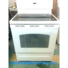 white glass top stove self clean 5 burner range electric cleaning stains